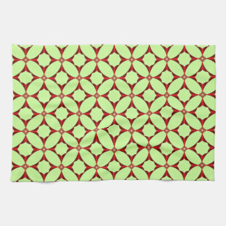 Cross in Red Tiled American MoJo Kitchen Towels