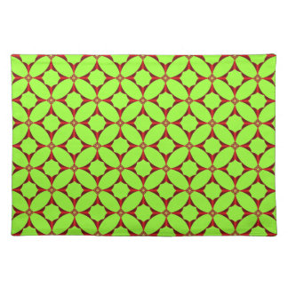 Cross in Red Tiled American MoJo Placemats Cloth Place Mat