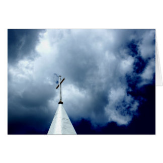 Cross in the Sky Photograph Card