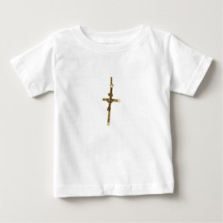 Cross Jesus Christ gold horizontal Baby T-Shirt