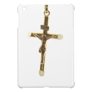 Cross Jesus Christ gold horizontal iPad Mini Cases