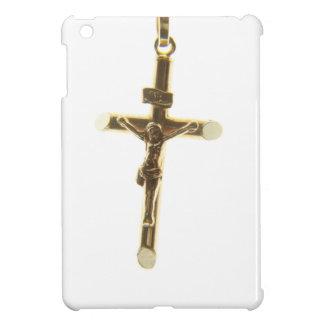 Cross Jesus Christ gold horizontal iPad Mini Cover