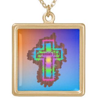 Cross  - Large gold finish necklace