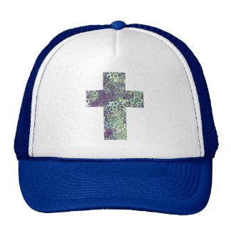 cross made of shiny stars trucker hat