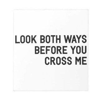 Cross Me Notepad
