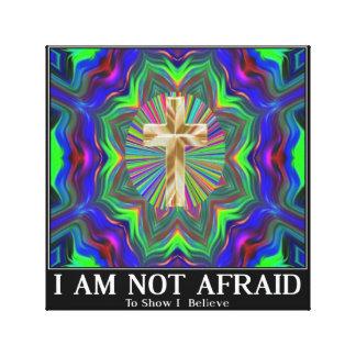 cross not afraid to show I believe art Canvas Print