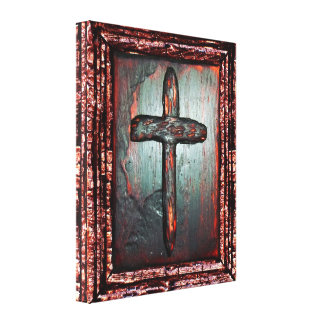 Cross of Blood Stretched Canvas Prints
