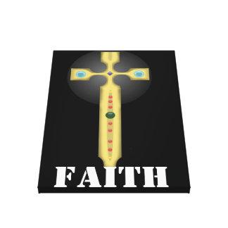 cross of faith canvas print