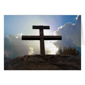 Cross of Jesus Crucifixion Golgotha Note Card Art