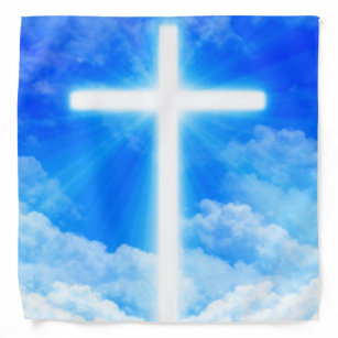 Cross of Light Jesus Christ Customizable Christian Bandana