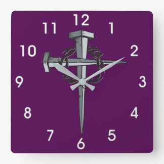 cross of nails and thorns clock