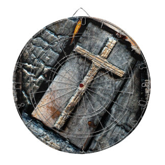 Cross of Protection Dartboard With Darts