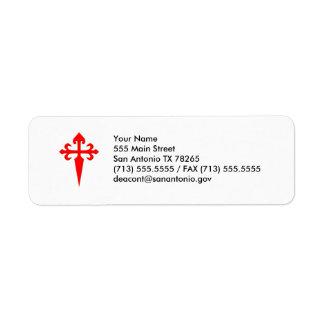 Cross of Saint James Return Address Label