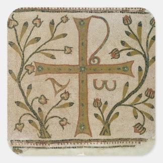 Cross of Sbeitla, from Basilica of Henchir Ali Square Sticker