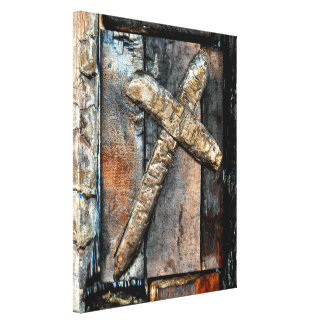 Cross of Strength Stretched Canvas Prints