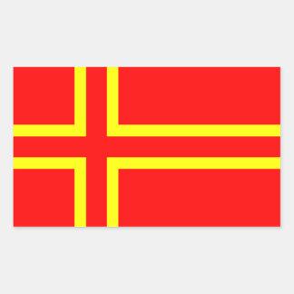 Cross Olaf Saint Rectangular Sticker