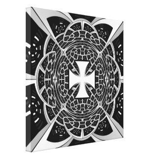 Cross pattée canvas print