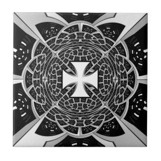 Cross pattée small square tile