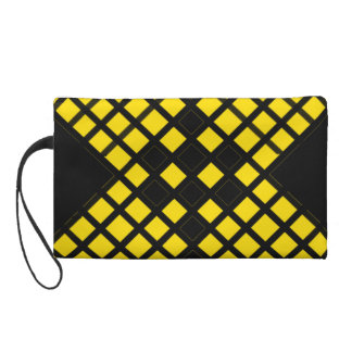 Cross Pattern Wristlet Purse