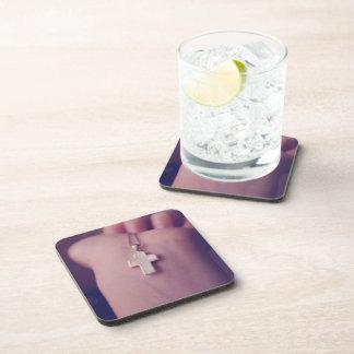 Cross Pendant. Drink Coasters