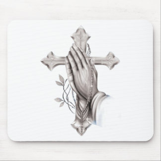 Cross Praying Mouse Pad