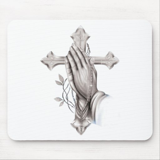 Cross Praying Mouse Mat
