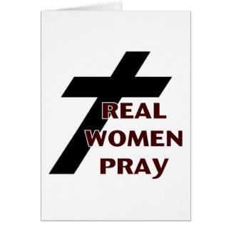 Cross - Real Women Pray Card