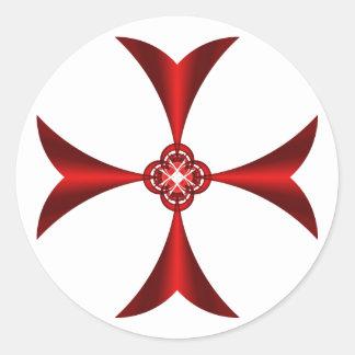 Cross Red Sticker