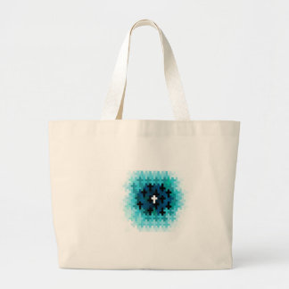 Cross Ripple Aqua Tote Bag