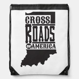 Cross Roads Of America Indiana Bag Drawstring Backpacks
