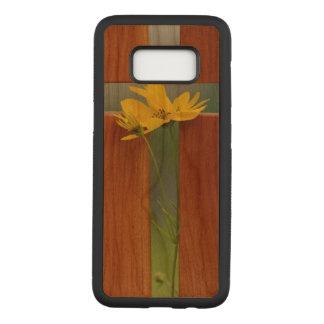 Cross Samsung Galaxy S8 Slim Cherry Wood Case