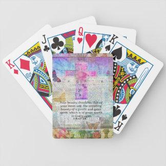 Cross, Scripture Art, Bible Verse Art Faith Based Poker Deck