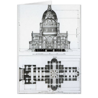 Cross section of St. Paul's Cathedral Greeting Card