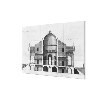 Cross-section of the Villa Rotonda near Stretched Canvas Prints