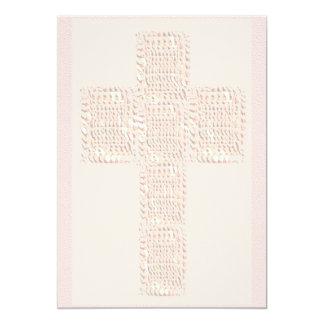 Cross Soft Colors 13 Cm X 18 Cm Invitation Card