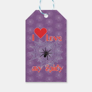 Cross spider in the net gift supporter gift tags