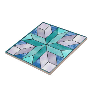 Cross Stained Glass Look Tile