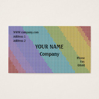 Cross stitch business card