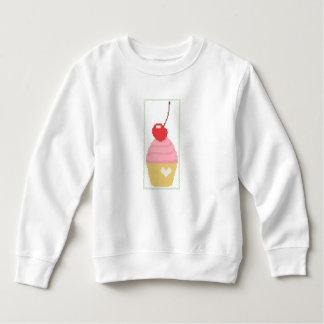 Cross stitch cherry cupcake toddler sweatshirt