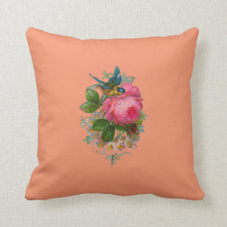 Cross Stitch Floral View Cushion