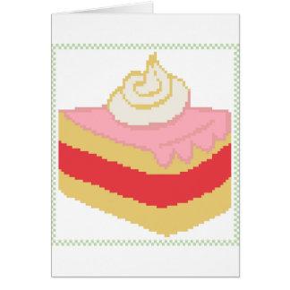 Cross stitch piece of cake card