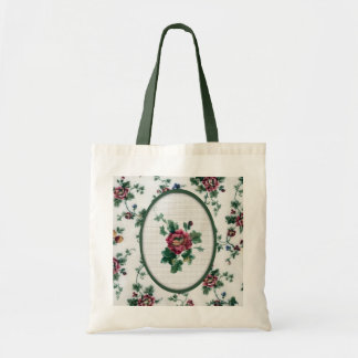 Cross Stitch Rose Bag