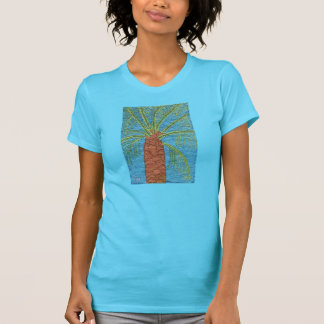 Cross Stitched Palm Tree By Julia Hanna T-Shirt