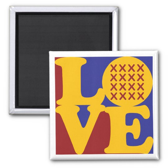 Cross-stitching Love Magnet