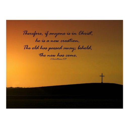 Cross Sunset Post Card