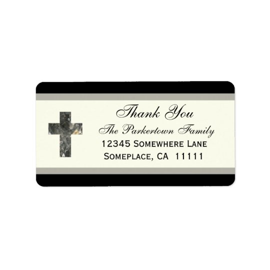 Cross Thank You Label