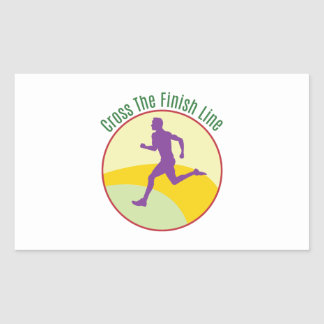 Cross The Finish Line Rectangle Stickers