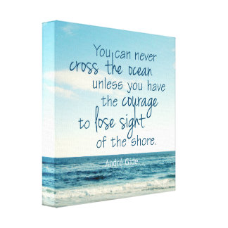 CROSS THE OCEAN QUOTE CANVAS PRINT