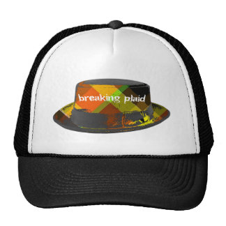 Cross the Plaid line Trucker Hat
