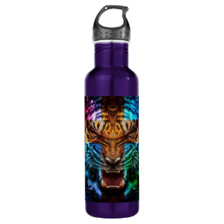 Cross tiger - angry tiger - tiger face - tiger wil 710 ml water bottle